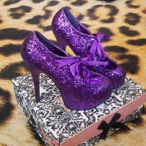 Glitter Mary Jane Heels